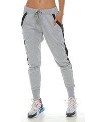 pantalon jogger, color gris jasped para mujer