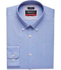 awearness kenneth cole awear-tech light blue slim fit dress shirt