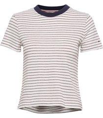 tjw contrast rib bab t-shirts & tops short-sleeved vit tommy jeans