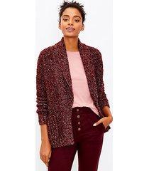 loft shawl collar pocket open cardigan