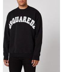 dsquared2 men's college fit arch logo sweatshirt - black - xxl