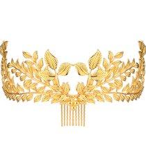 copricapo vintage da sposa copricapo copricapo in oro a foglia d'epoca romana capelli corona