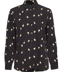 karolina pear print overhemd met lange mouwen zwart whyred