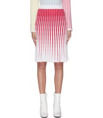 'thoms' gradient colourblock ribbed midi skirt