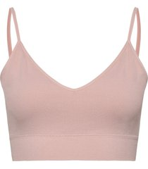 bra seamless rib top lingerie bras & tops soft bras rosa lindex