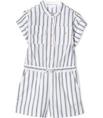 chloé blue and white cotton playsuit