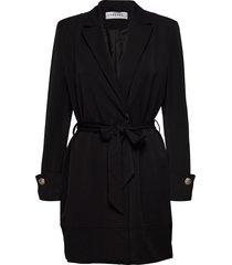 tied waist blazer dress kort klänning svart ivyrevel
