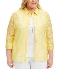 alfred dunner plus size spring lake layered-look necklace top