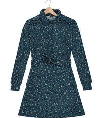 vestido azul oscuro-multicolor vero moda