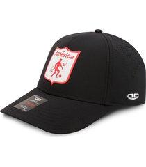 gorra américa de cali oficial corte láser oc caps negra