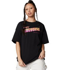 converse camiseta greetings oversized black