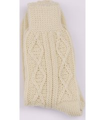 cream aran socks s/m