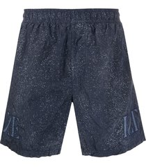 stone island speckle print swim shorts - blue