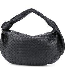 bottega veneta the shoulder pouch tote - black