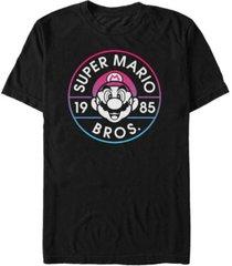 nintendo men's super mario gradient logo short sleeve t-shirt