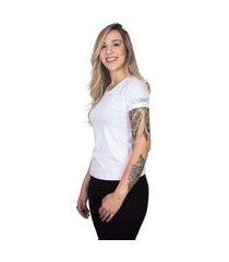 camiseta 4 ás manga curta silver feminina