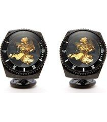 rollo 24k gold leaf watch cufflinks