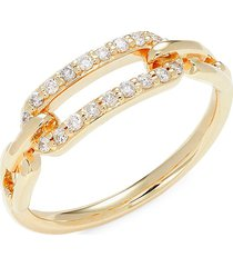 saks fifth avenue women's 14k yellow gold & diamond ring - size 7