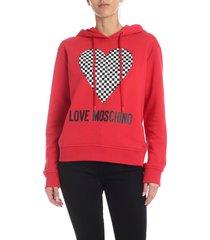 love moschino heart hoodie
