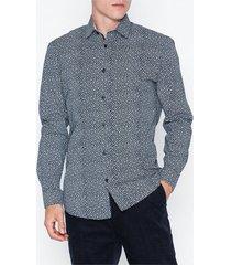 selected homme slhslimnew-mark shirt ls b noos skjortor dark blue