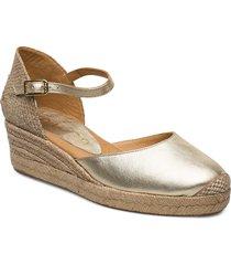 cisca_20_lmt sandalette med klack espadrilles beige unisa