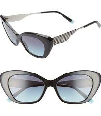 women's tiffany & co. diamond point 54mm gradient cat eye sunglasses -