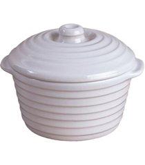 caçarola de cerâmica cocotte 5,5x10cm branca