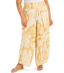 band of gypsies trendy plus size palazzo pants