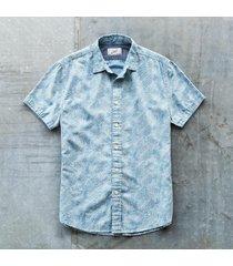 grayers america inc palm island shirt, blue