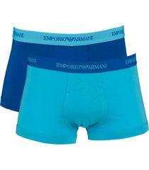 armani short 2-pak blauw-blue