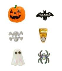 betsey johnson pumpkin single stud earrings set, 6 piece