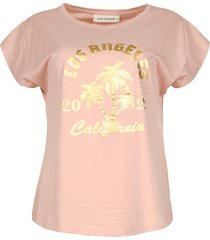 t-shirt met print nikoline  roze