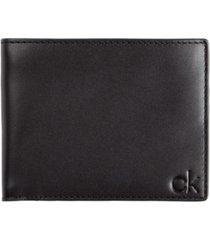calvin klein men's smooth leather wallet