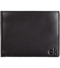 calvin klein men's smooth leather wallet