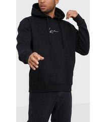 karl kani kk signature hoodie tröjor svart/vit