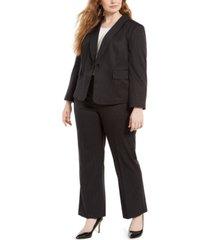 le suit plus size double-pinstriped pantsuit