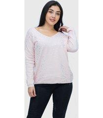 sweater lanilla estrellas rosado enigmática boutique