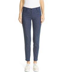 akris magda stretch denim pants, size 6 in blue at nordstrom