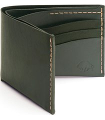 ezra arthur no. 8 leather wallet in green at nordstrom