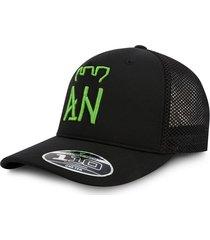 gorra atlético nacional oficial edición limitada premium flexfit malla negra