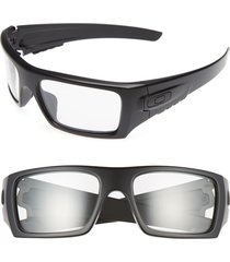 men's oakley det cord 61mm sunglasses - black/clear