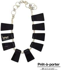 colar la madame co maxi colar preto - preto - feminino - dafiti