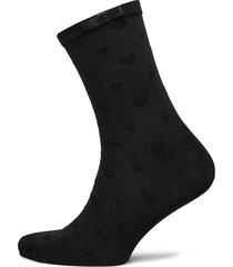 ladies anklesock, heart sock lingerie hosiery socks svart vogue