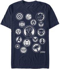 marvel men's avengers infinity war the avengers emblems short sleeve t-shirt