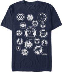 marvel men's avengers infinity war the avengers emblems short sleeve t-shirt