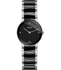 women's rado centrix diamond bracelet watch, 23mm