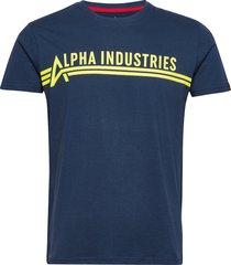 alpha industries t t-shirts short-sleeved blå alpha industries