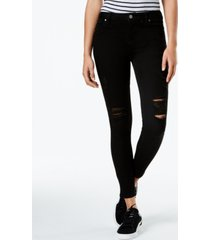 celebrity pink juniors' ripped ankle skinny jeans
