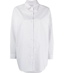 iro vertical-stripe long-sleeve shirt - white