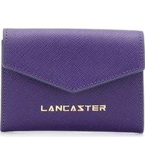 lancaster compact logo wallet - purple